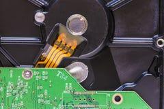 Closeup av en HDD Arkivfoto