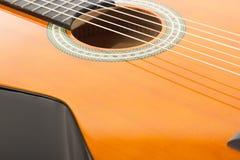 Closeup av en gitarr Arkivbild