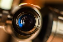 Closeup av en okular av ett teleskop Royaltyfri Foto