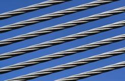 Closeup av en stålkabel Fotografering för Bildbyråer