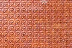 Closeup av en tegelstenvägg med röda tegelstenar royaltyfri bild