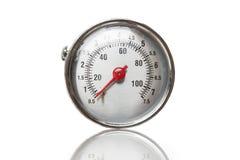 Closeup av en tryckmeter Royaltyfria Foton