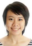 Closeup av en ung asiatisk kvinna Royaltyfria Foton