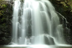 Closeup av en vattenfall Arkivbilder