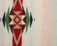 Closeup av en woolen filt med geometrisk design Arkivbilder