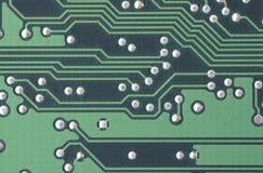 Closeup av ett bräde för utskrivaven strömkrets Arkivbild