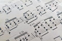 Closeup av ett musikark Royaltyfri Fotografi