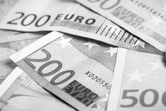 Closeup av eurosedlar royaltyfri fotografi