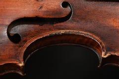 Closeup av fiolinstrumentet Klassisk musikkonst Arkivbild