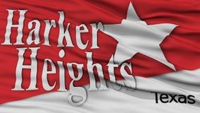 Closeup av flaggan för Harker höjdstad Royaltyfri Foto