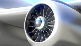 Closeup av flygplanmotorn Royaltyfri Fotografi