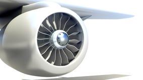 Closeup av flygplanmotorn Fotografering för Bildbyråer