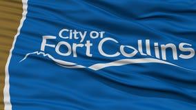 Closeup av fortet Collins City Flag Fotografering för Bildbyråer