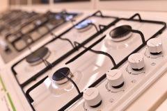 Closeup av gasspisen Royaltyfri Fotografi