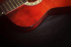 Closeup av gitarren Royaltyfria Bilder