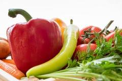 Closeup av grönsaker Arkivfoton
