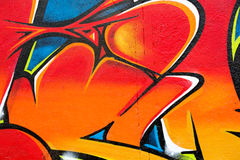 Closeup av grafittiväggen Royaltyfria Foton