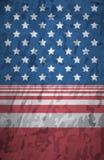 Closeup av grunge- och lodlinjeamerikanska flaggan Arkivbilder