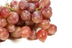 Closeup av gruppen av saftiga röda druvor Arkivbild