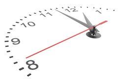 Closeup av händer på klockaframsida Royaltyfri Bild