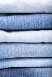 Closeup av jeans Arkivfoton