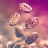 Closeup av kaffebönor arkivfoto