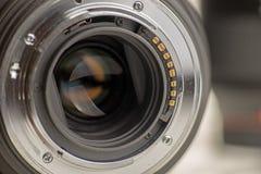 Closeup av kameraLens kontakter Royaltyfria Foton