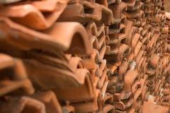 Closeup av keramiska tegelplattor royaltyfri fotografi
