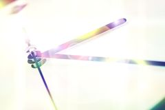 Closeup av klockahänder Arkivfoto