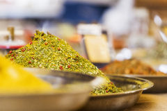 Closeup av kryddor Royaltyfri Fotografi