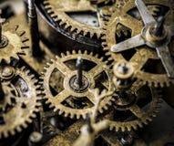 Closeup av kugghjul och kuggeurverk Arkivbilder