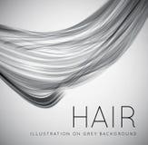 Closeup av långt mänskligt hår vektor illustrationer