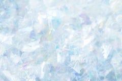 Closeup av ljusa silver-/blåttkonfettier Arkivbilder