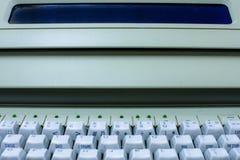Closeup av maskinskrivningmaskinen royaltyfri fotografi