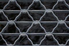 Closeup av metallbron över ström Royaltyfria Bilder