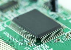 Closeup av mikrochipers Arkivfoton