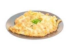 Closeup av omelett Royaltyfria Bilder