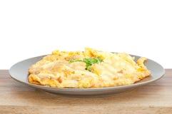 Closeup av omelett Royaltyfri Fotografi