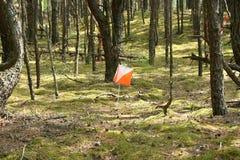 Closeup av orienteringmarkören Royaltyfri Bild