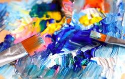 Closeup av paletten Arkivbild