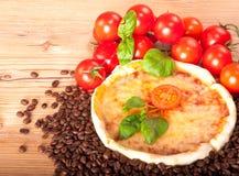 Closeup av pizza    Royaltyfri Bild