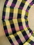 Closeup av plisserat tyg Arkivfoto