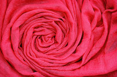 Closeup av rött draperat tyg fotografering för bildbyråer