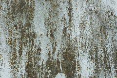 Closeup av rostig metallyttersida Fotografering för Bildbyråer
