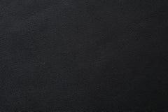Closeup av sömlös svart lädertextur arkivfoton