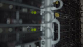 Closeup av servermaskinvara arkivfilmer