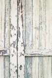 Closeup av Slats på gammal ladugårddörr Royaltyfri Foto