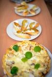 Closeup av smörgåsen med pajen Arkivbilder