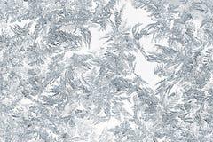 Closeup av snö- eller iskristaller Arkivfoto