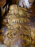Closeup av stalaktit och stalagmit Fotografering för Bildbyråer
